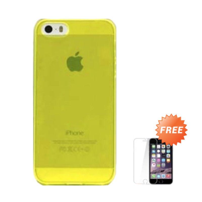 Hog TPU Slim Hijau Softcase Casing for iPhone 5 + Tempered Glass Screen Protector