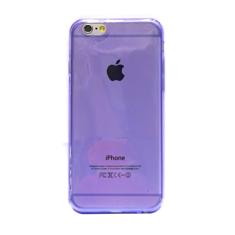 Hog TPU Slim Ungu Casing for iPhone 6
