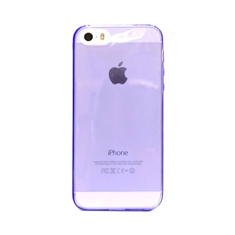 Hog TPU Slims Ungu Casing for iPhone 5 or 5S