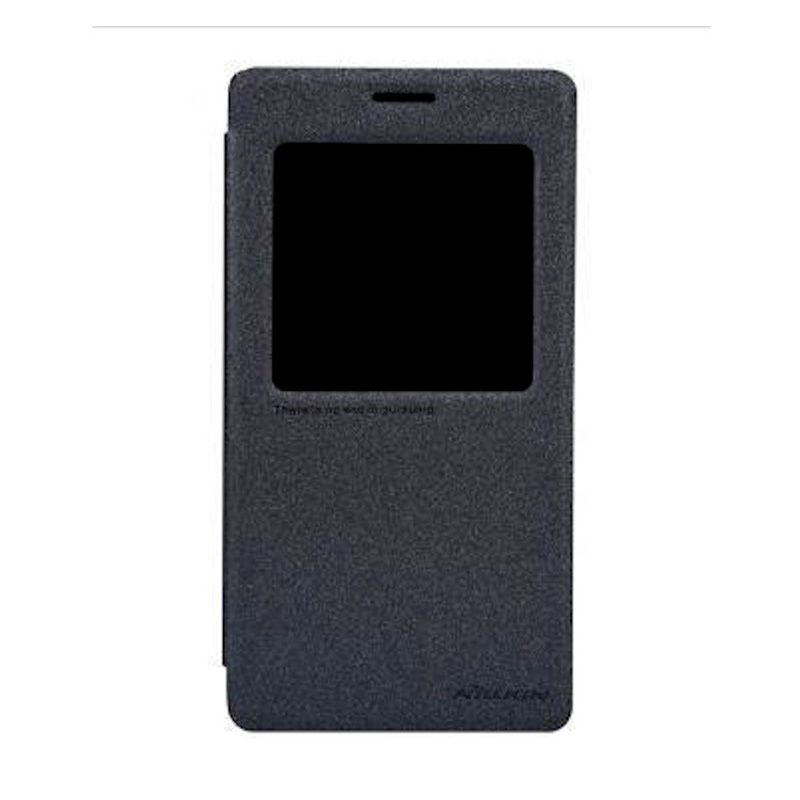 Nillkin Sparkle Leather Black Casing for Xiaomi Redmi Note