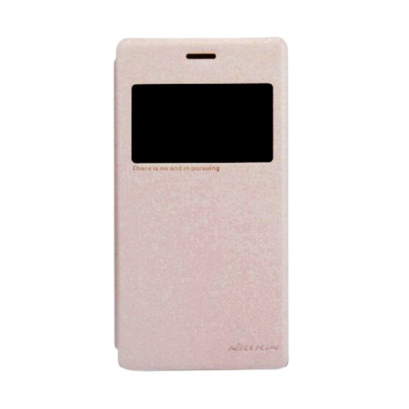 Nillkin Sparkle Leather Gold Casing For Sony Xperia M2