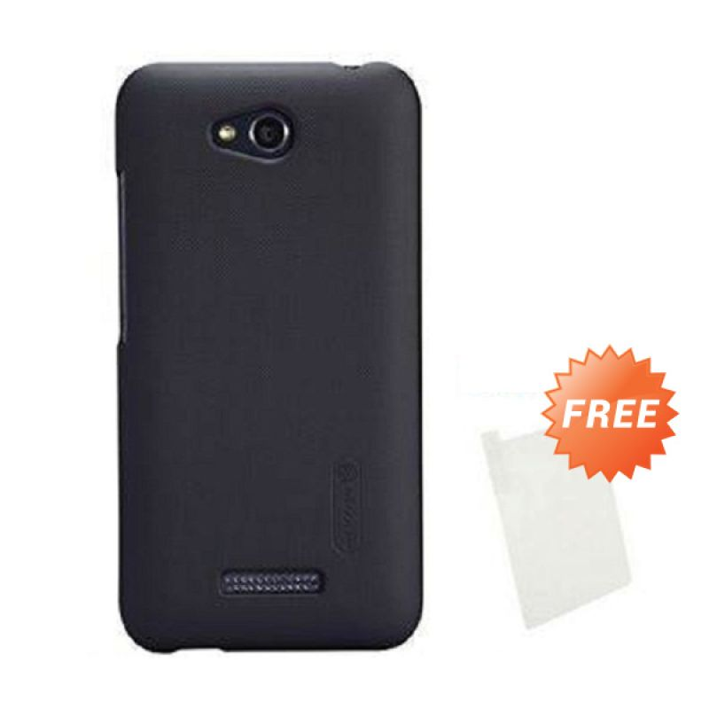Nillkin Super Frosted Shield Hitam Casing for HTC Desire 616 + Screen Guard