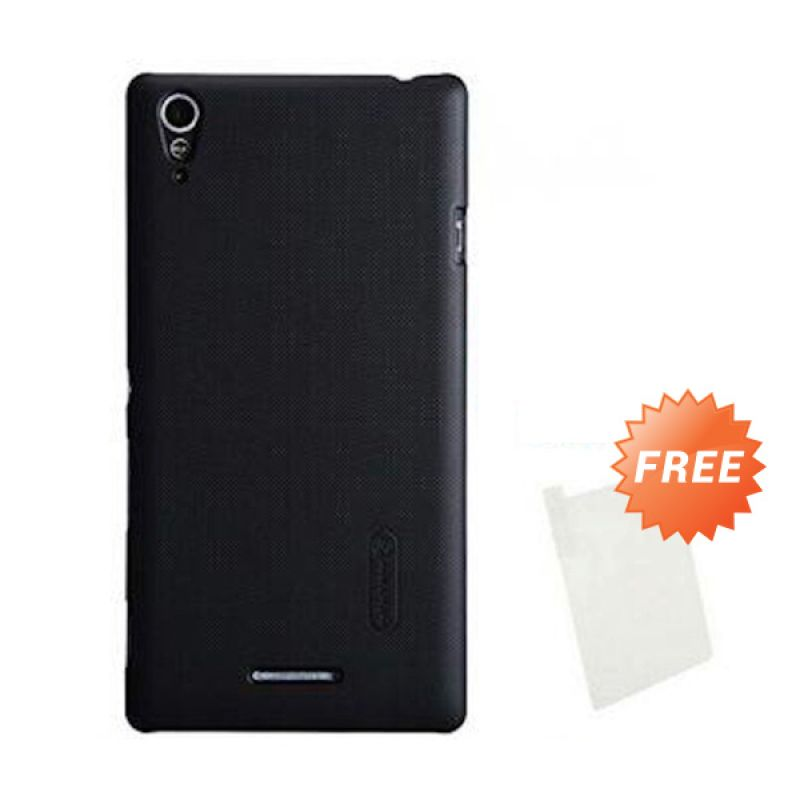 Nillkin Super Frosted Shield Black Casing for Sony Xperia T3 + Screen Guard