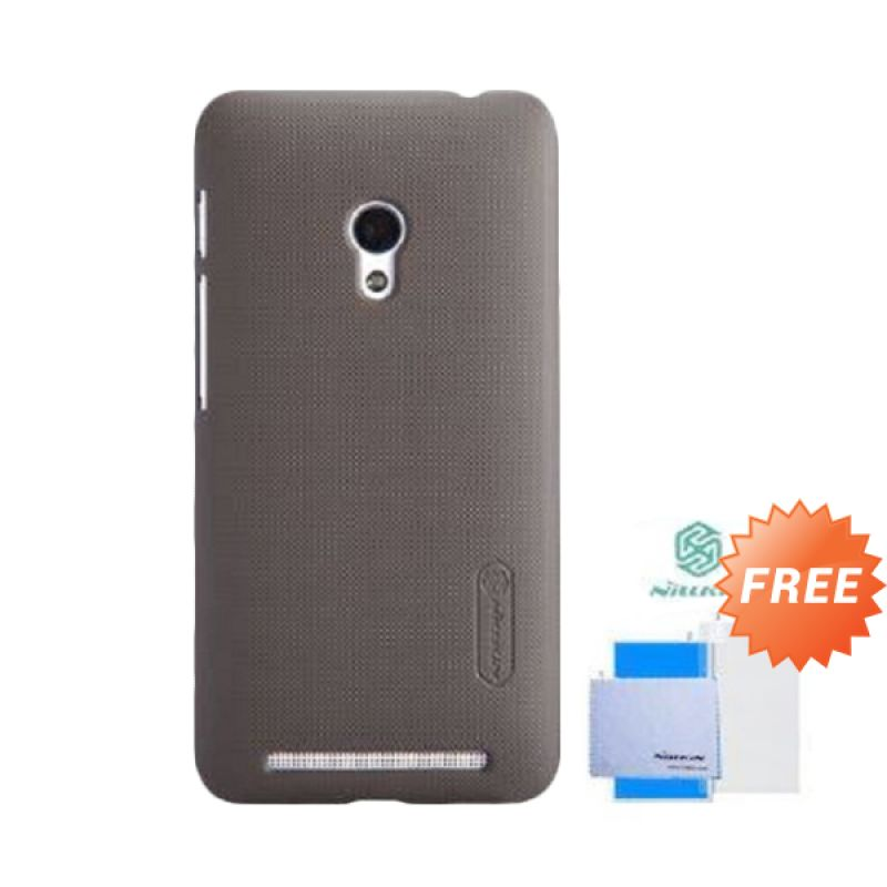 Nillkin Super Frosted Shield Brown Casing for Asus Zenfone 4S + Screen Guard