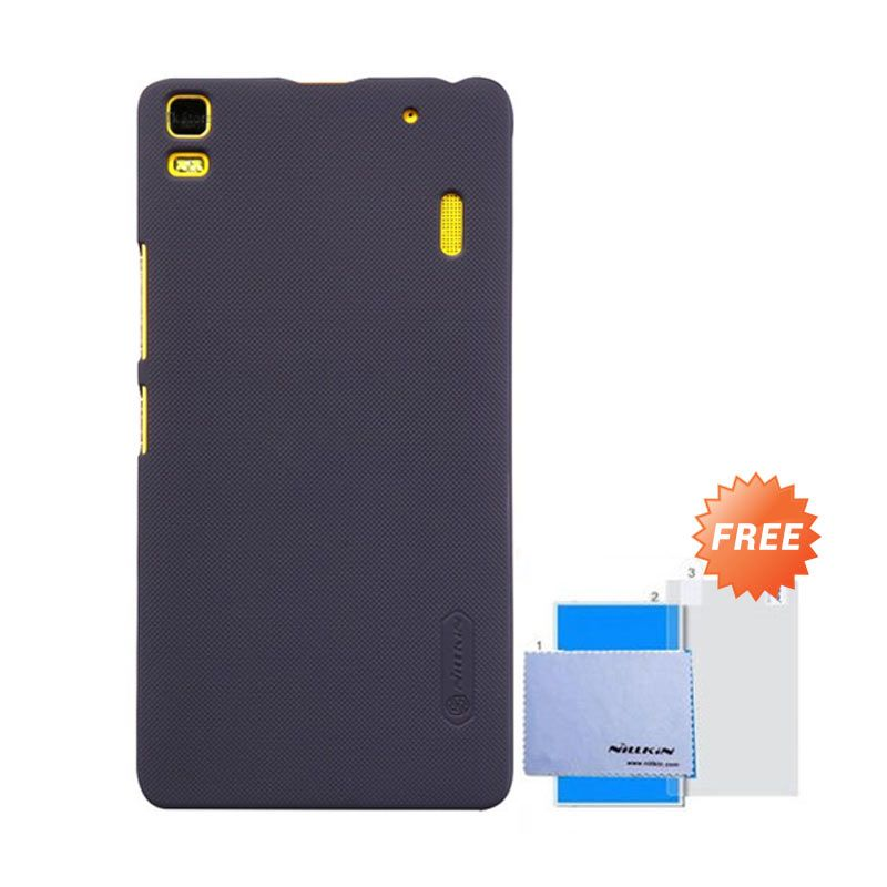 Nillkin Super Frosted Shield Hitam Casing For Lenovo A7000 + Screen Guard