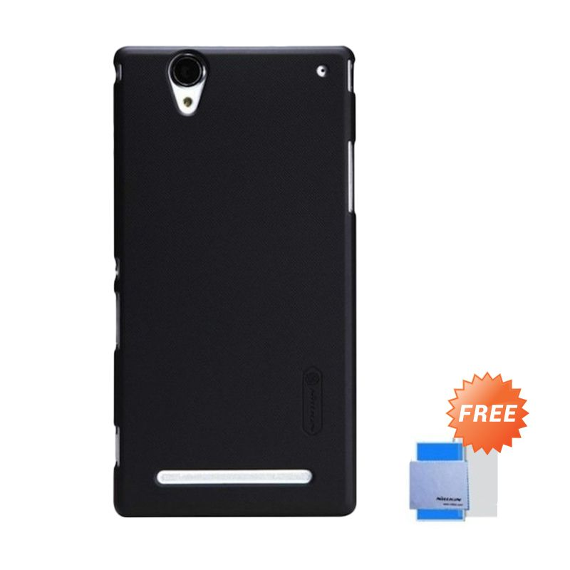 Nillkin Super Frosted Shield Hitam Casing For Sony Xperia T2 Ultra + ScreenGuard Nillkin