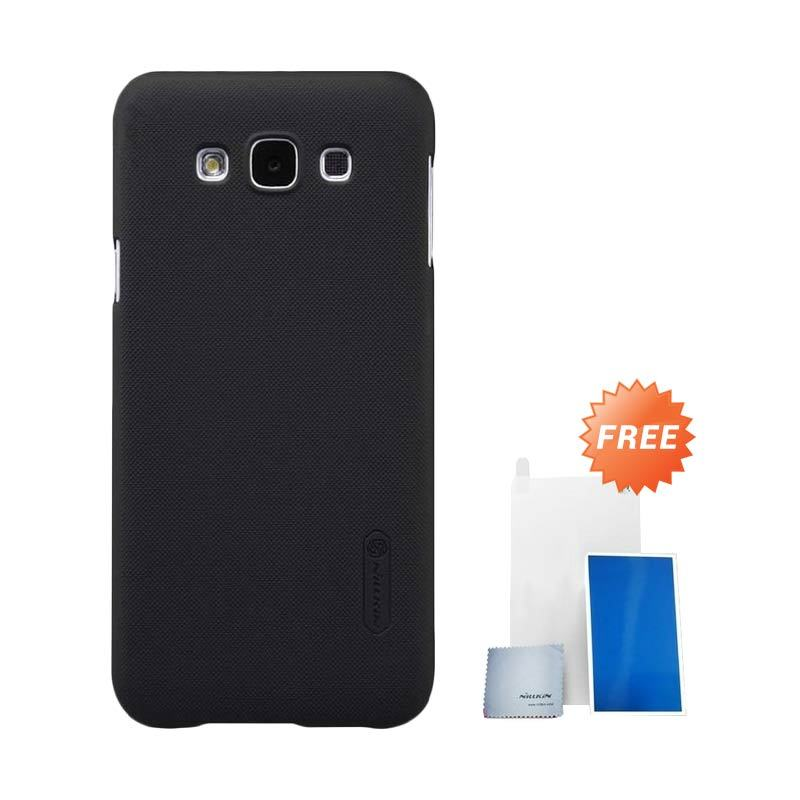 Nillkin Super Shield Frosted Hitam Casing for Samsung Galaxy E7 + Screen Protector