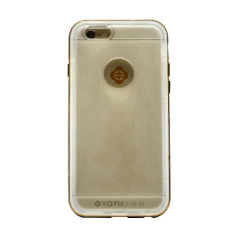 Totu Exquisite Endless Series Grey Casing For Iphone 6 Plus [TPU + Aluminium]