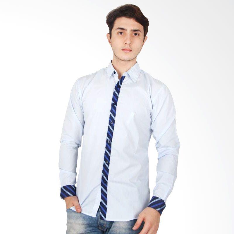 DCKY Shirt Biru Muda Panjang