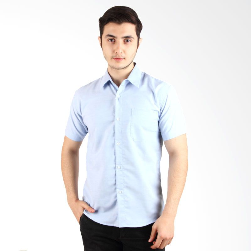 Itsabcd Blue Short Sleeve Shirt