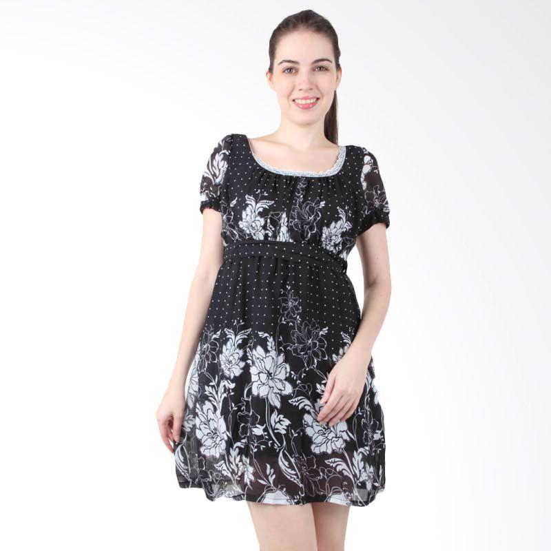 itsabcd Peony Puff Sleeve Dress