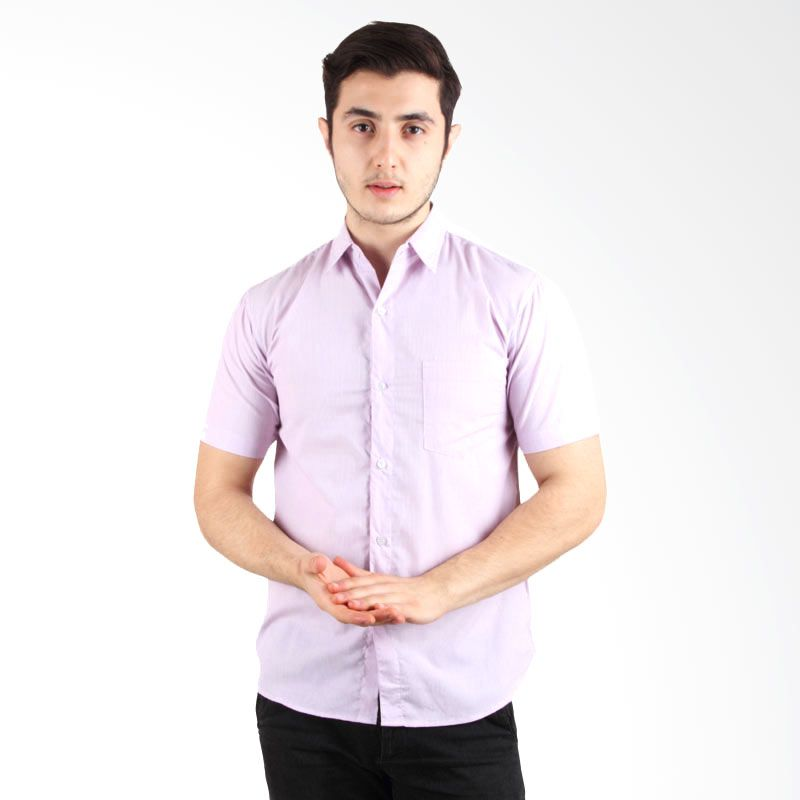 Itsabcd Pink Stripe Short Sleeve Shirt