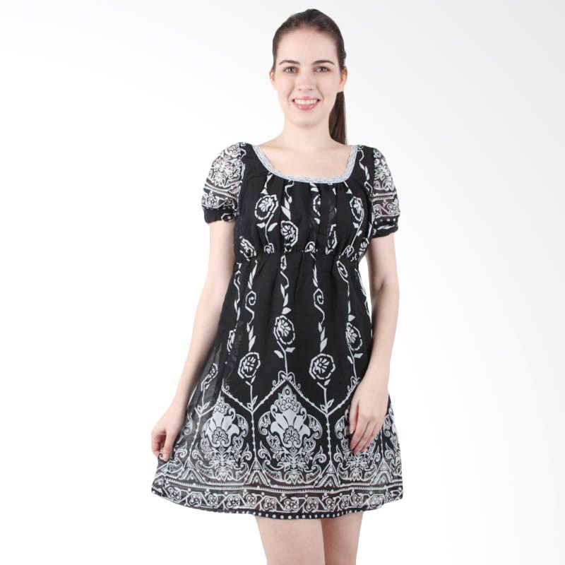 itsabcd Rose Puff Sleeve Dress