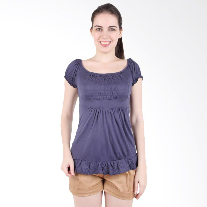 itsabcd Spandex Flare Top Purple