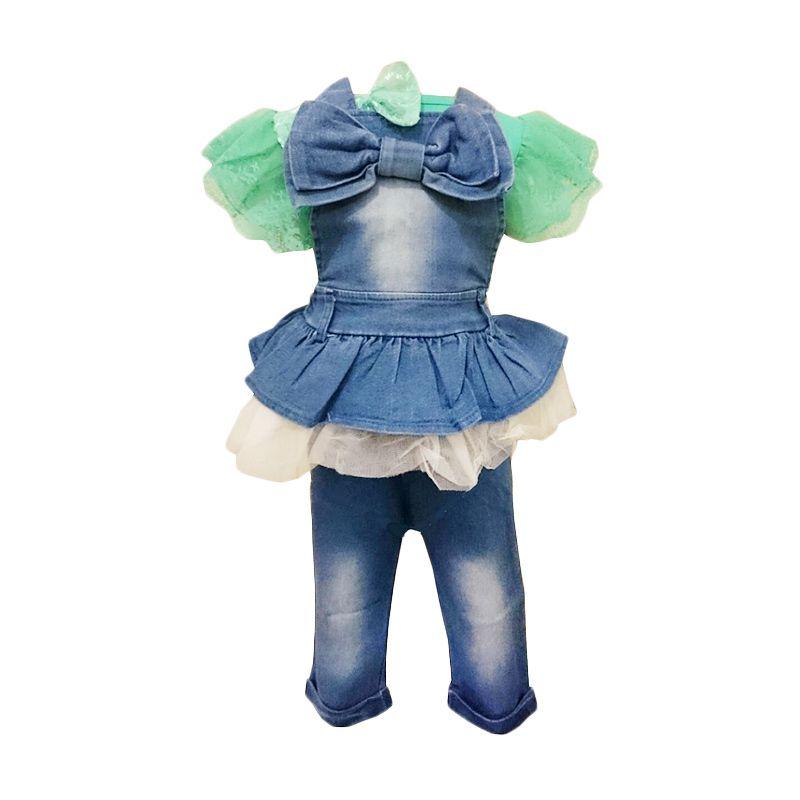 Belle Maison Overall Jeans Hijau Setelan Anak