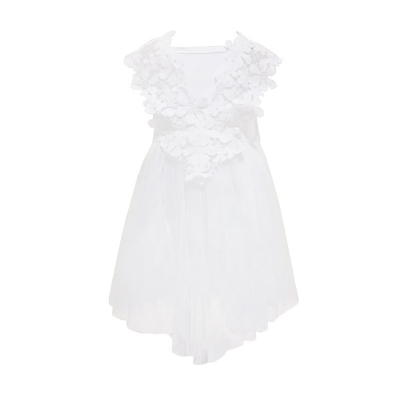 E-Buty Lace V-Shape Soft Putih Dress Anak