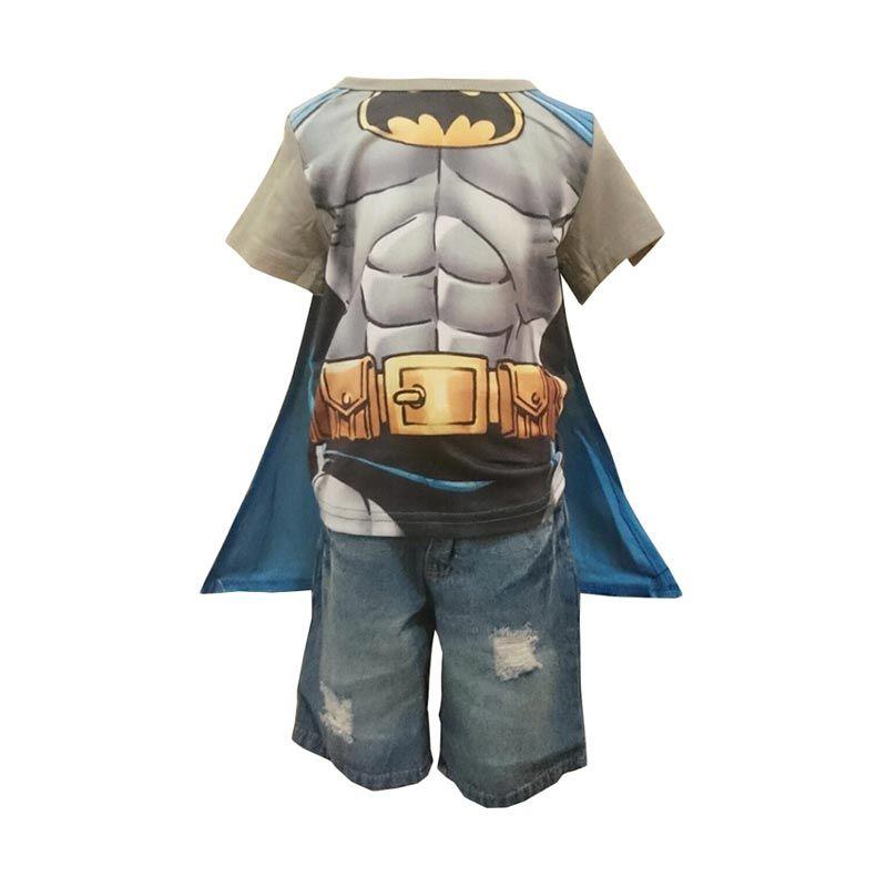 H&M Batman Celana Jeans dan Sayap Abu Setelan Anak Laki Laki