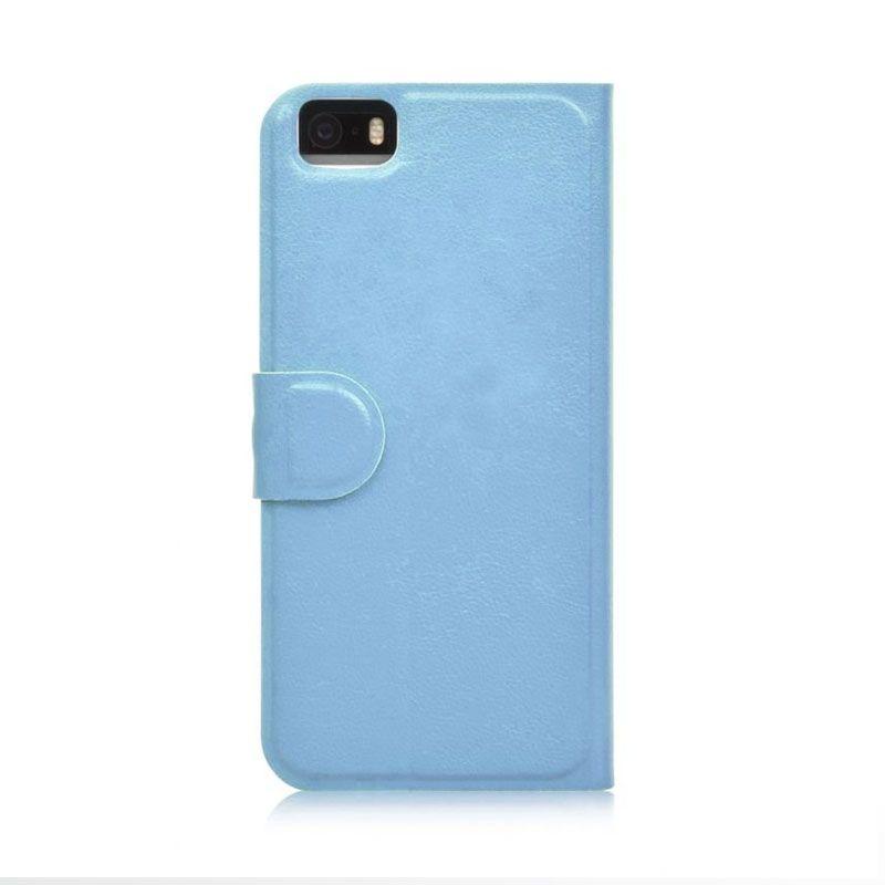 Ahha Arias Magic Flip Case Biru Casing for iPhone 5 or 5S