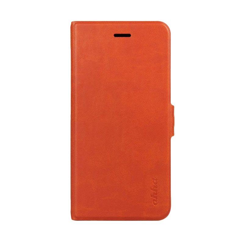 Ahha Kim Orange Leather Casing for iPhone 6