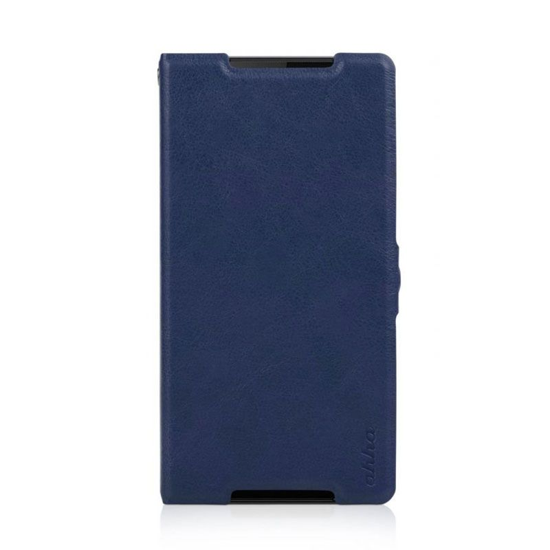Ahha Leather Kim Biru Casing for Xperia Z2