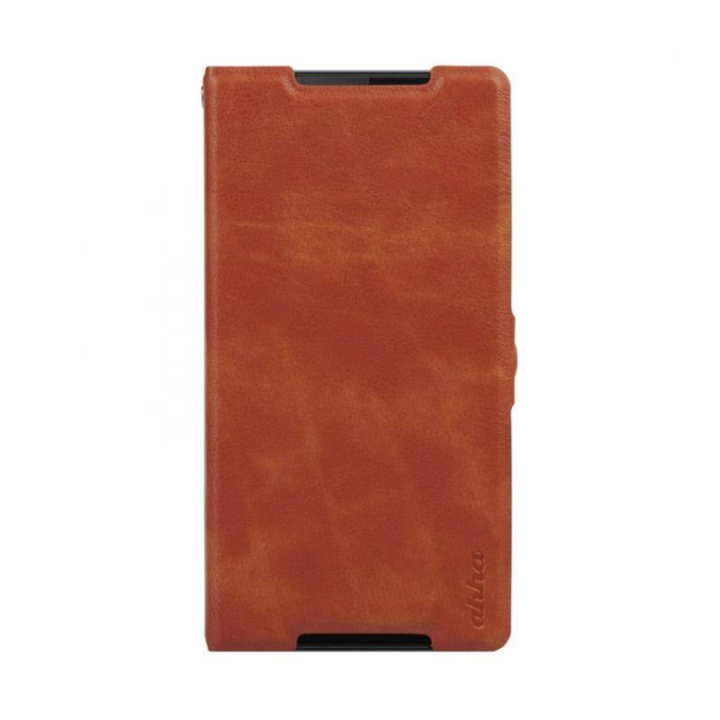 Ahha Leather Kim Orange Flip Casing for Xperia Z2
