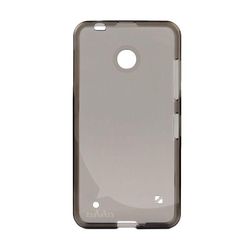Ahha Moya Gummishell Tinted Black Soft Casing for Lumia 630