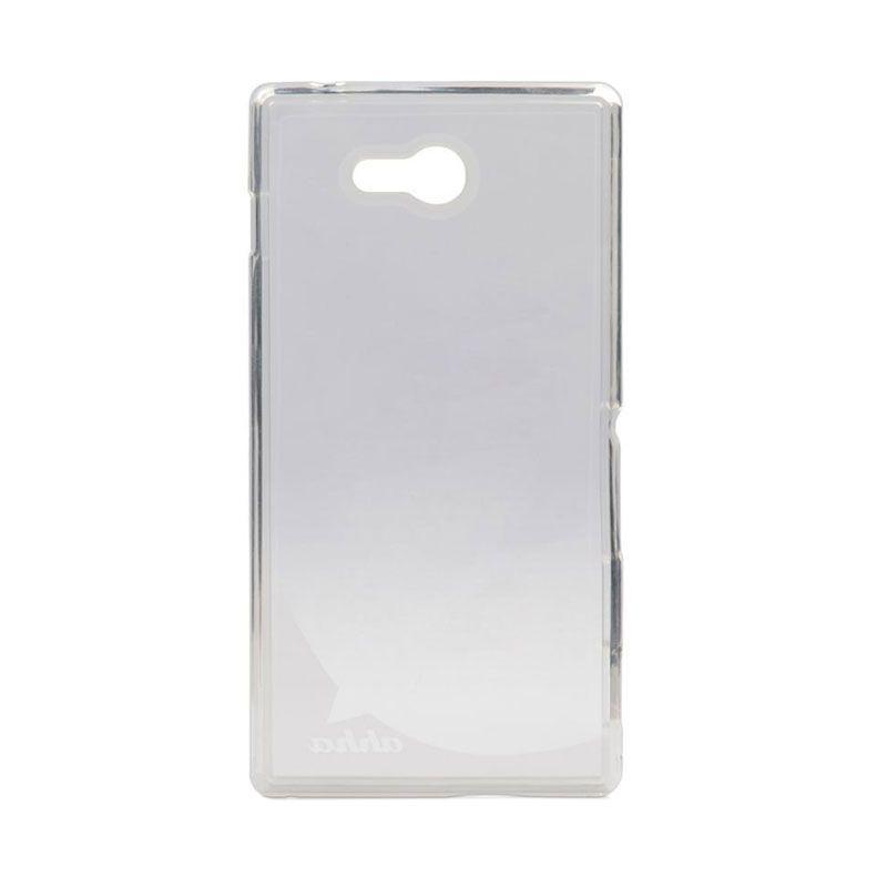 Ahha Moya Gummishell Soft Case Clear Casing for Sony Xperia M2 Aqua