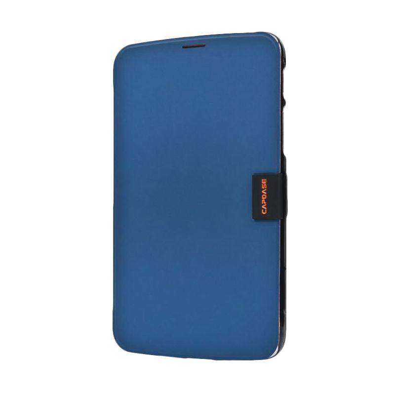 Capdase Karapace Jacket Elli Biru Casing for Samsung Galaxy Tab 3.7