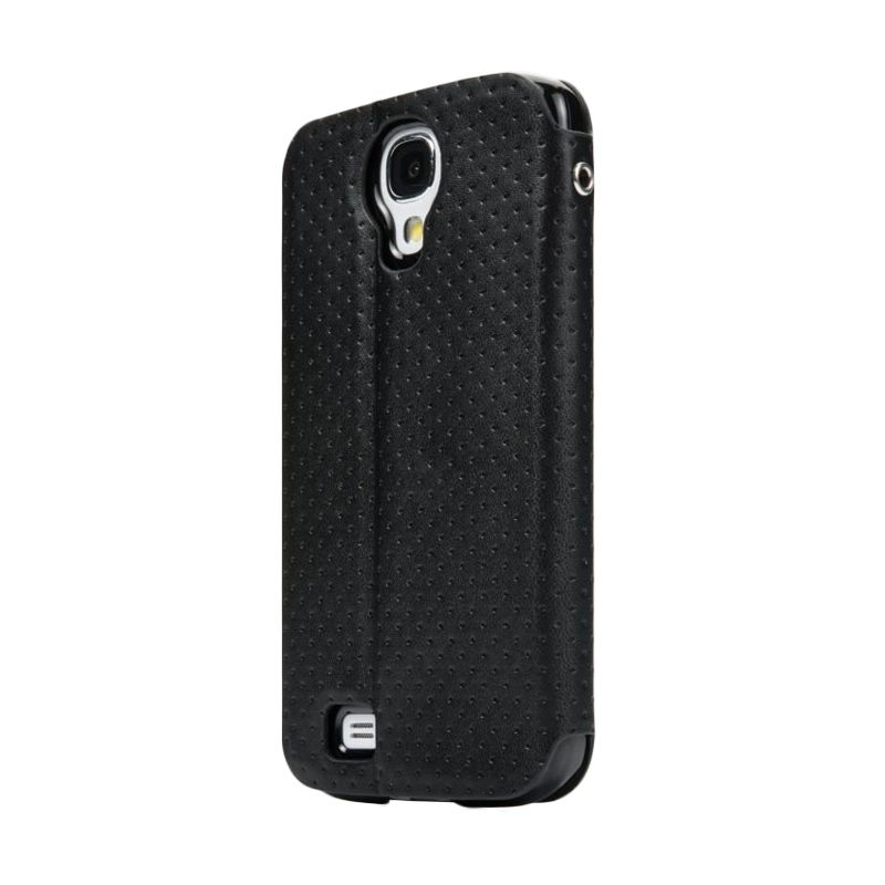 Capdase Sider ID Polka Hitam Folder Casing for Galaxy S4