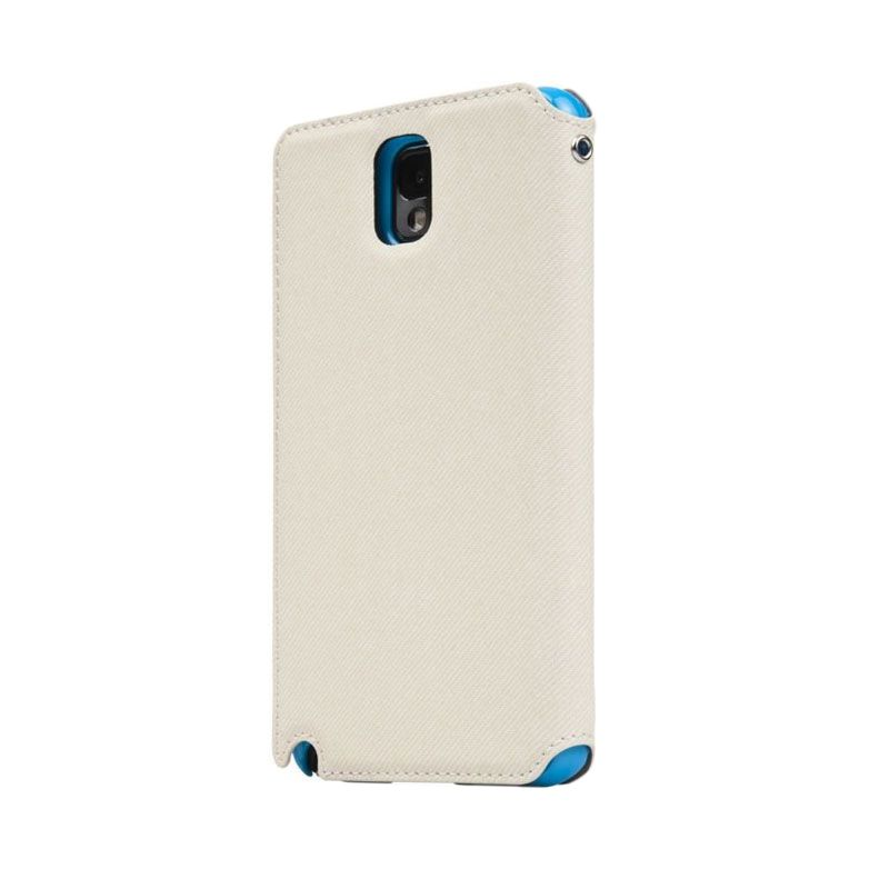 Capdase Sider V Baco Flip Case Putih Casing for Samsung Note 3
