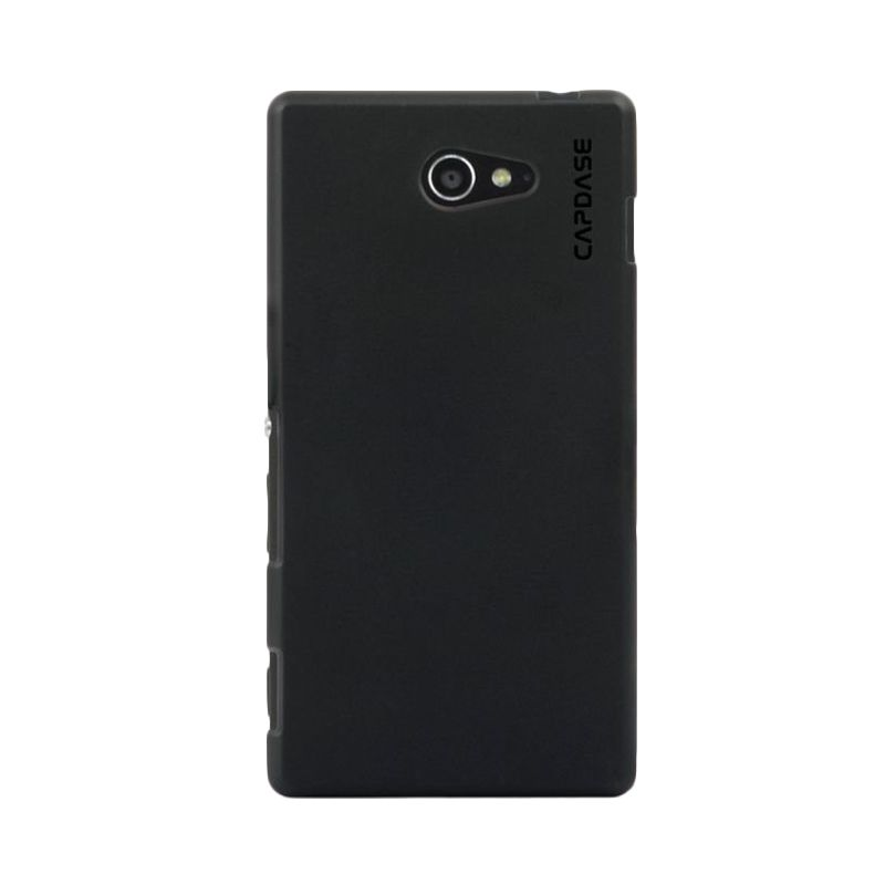 Capdase Soft jacket Solid Hitam Casing for Sony Xperia M2 Dual