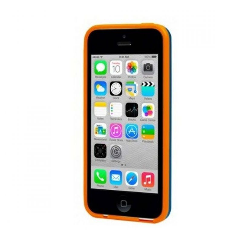 Capdase Soft Jacket Xpose Vika Blue Orange Casing for iPhone 5C