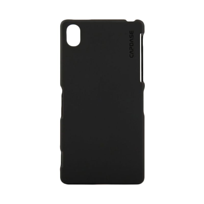 Capdase Softjacket Solid Hitam Casing for Xperia Z1 Compact