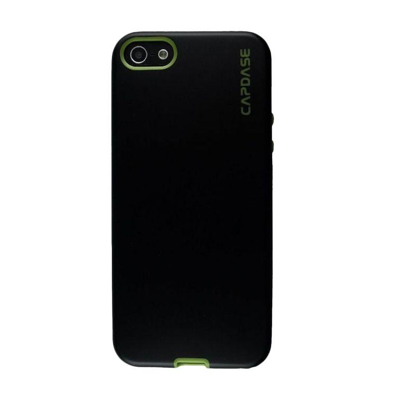 Capdase Vika Hitam Hijau Soft Case Casing for iPhone 5S