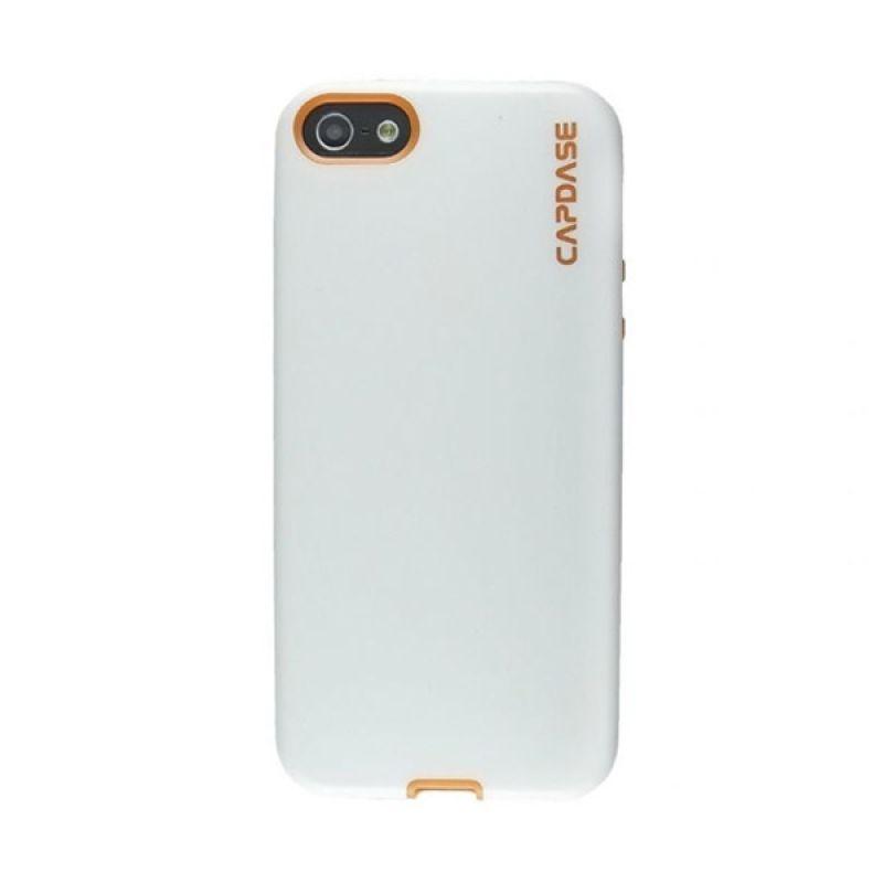 Capdase Vika Putih Orange Soft Casing for iPhone 5/5S