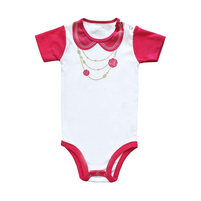 J Baby Bodysuit Girl Fanta Kalung Bunga Baju Jumpsuit Bayi