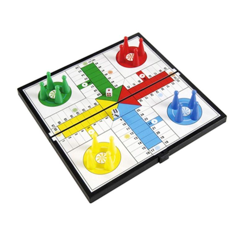 UB Magnetic Folding Ludo 1548 Putih Mainan Anak