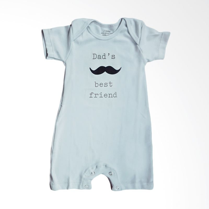 J Baby Dad's Best Friend Romper 48 Abu-abu Jumpsuit Bayi