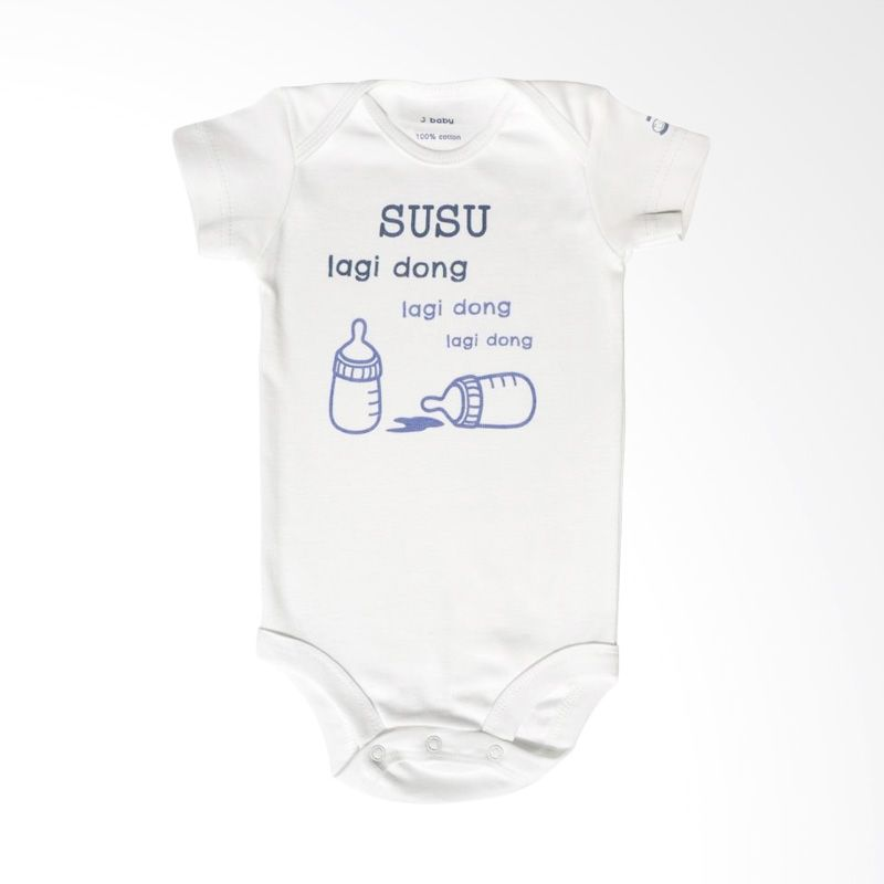J Baby Susu Lagi Dong Bodysuit 124 Putih Jumpsuit Bayi