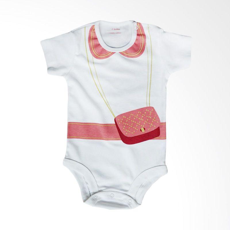 harga J Baby Tas Pink Bodysuit 125 Putih Jumpsuit Bayi Blibli.com