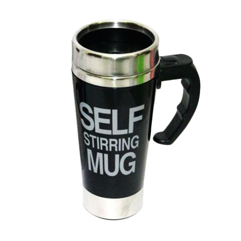 Jack Big Self Stiring Hitam Mug Gelas