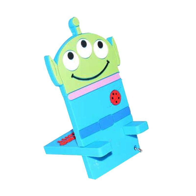 Jack Karakter Alien Biru Penyangga Handphone