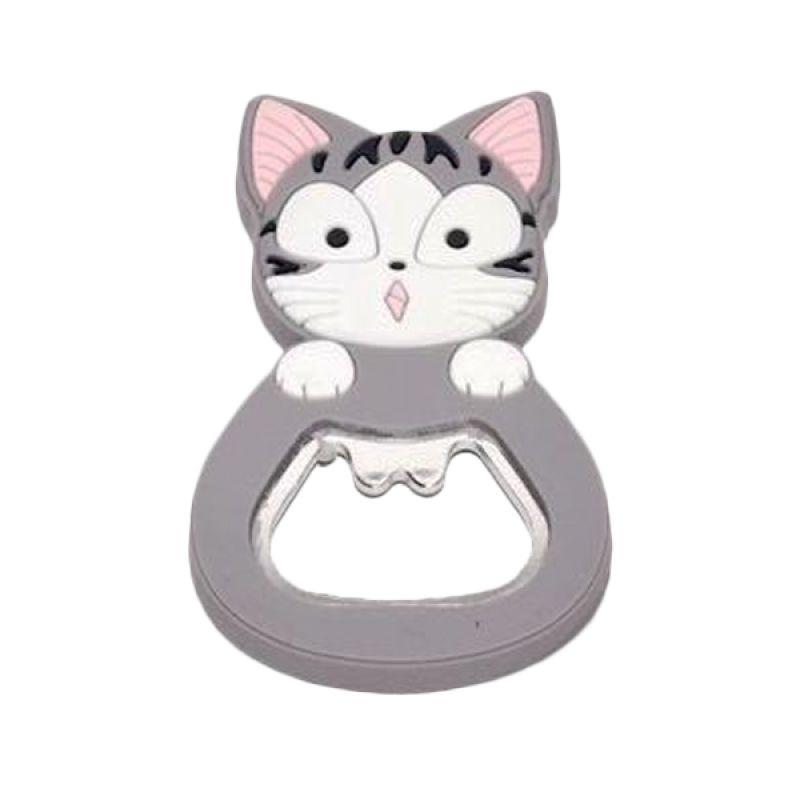 Jack Karakter Kucing Abu-Abu Pembuka Botol