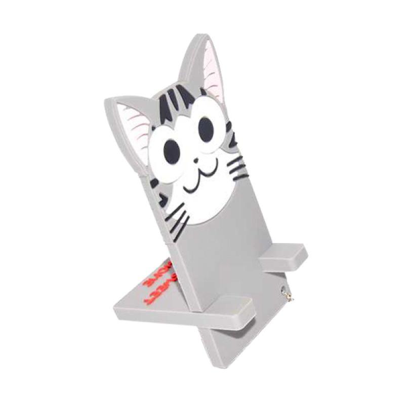Jack Karakter Kucing Abu-Abu Penyangga Handphone