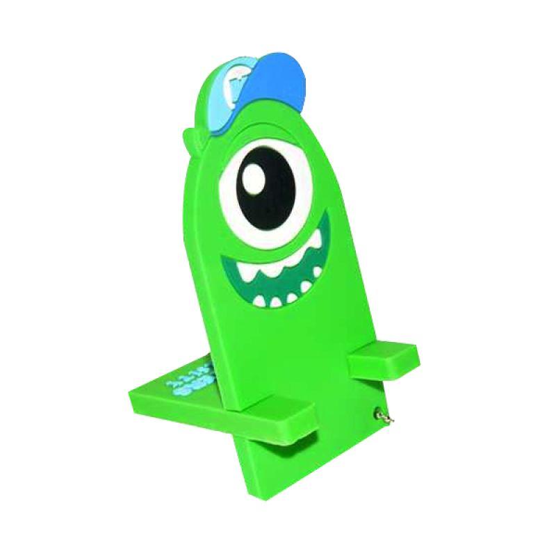 Jack Karakter Monster Inc Mike Hijau Penyangga Handphone