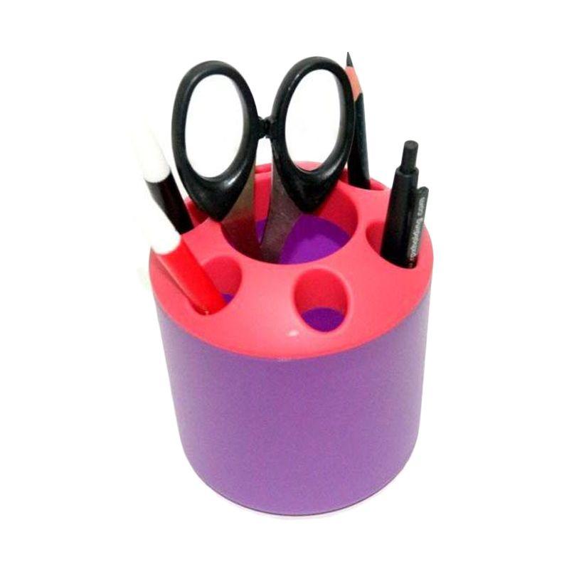 Jack Tabung Multifungsi Merah Ungu Toothbrush Holder