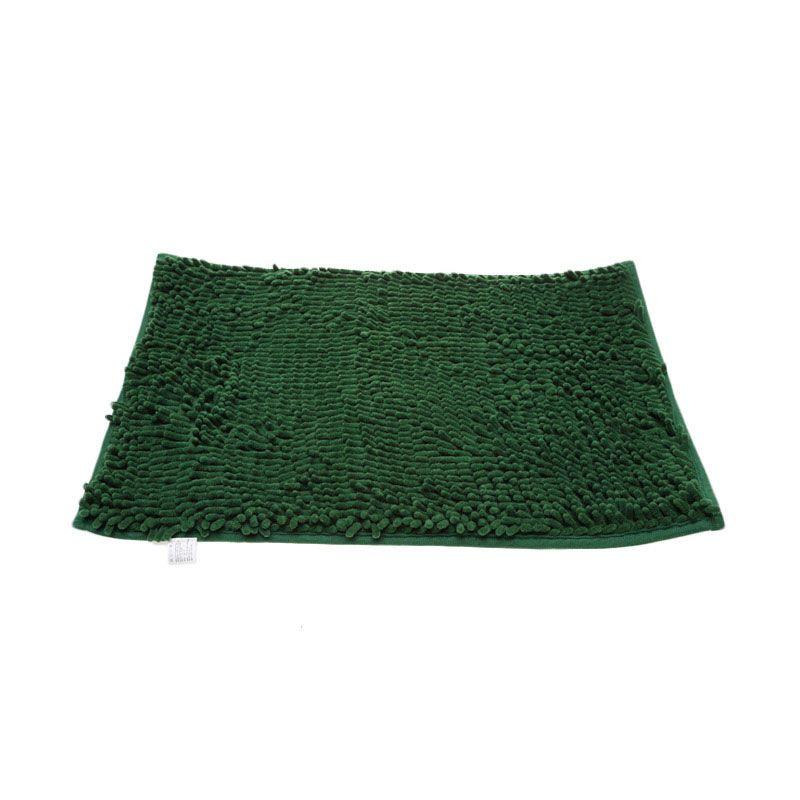 Keset Cendol Microfiber 40 x 60 cm - Hijau Tua ( Dark Green Army )