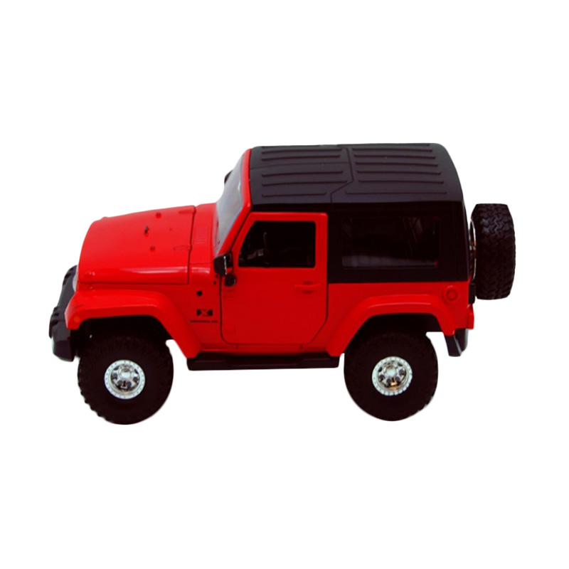harga Jada Jeep Wrangler 2007 Hard Top Diecast - Red [1:24] Blibli.com