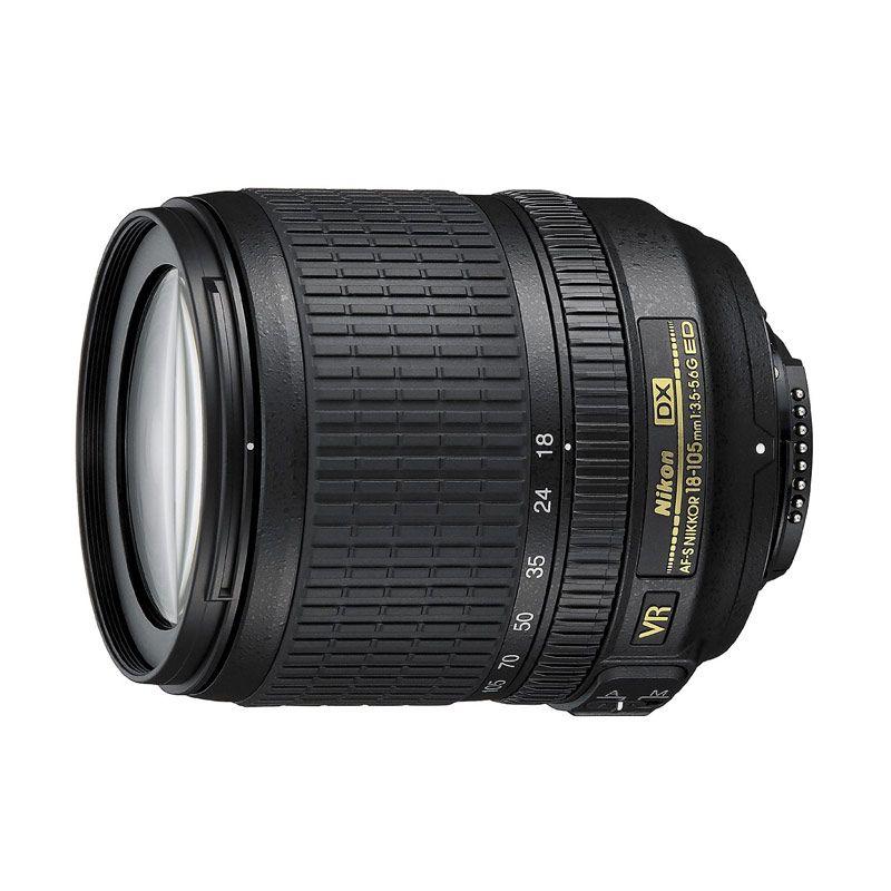 Nikon AF-S DX Nikkor 18-105mm f/3.5-5.6G ED VR White Box Lensa Kamera