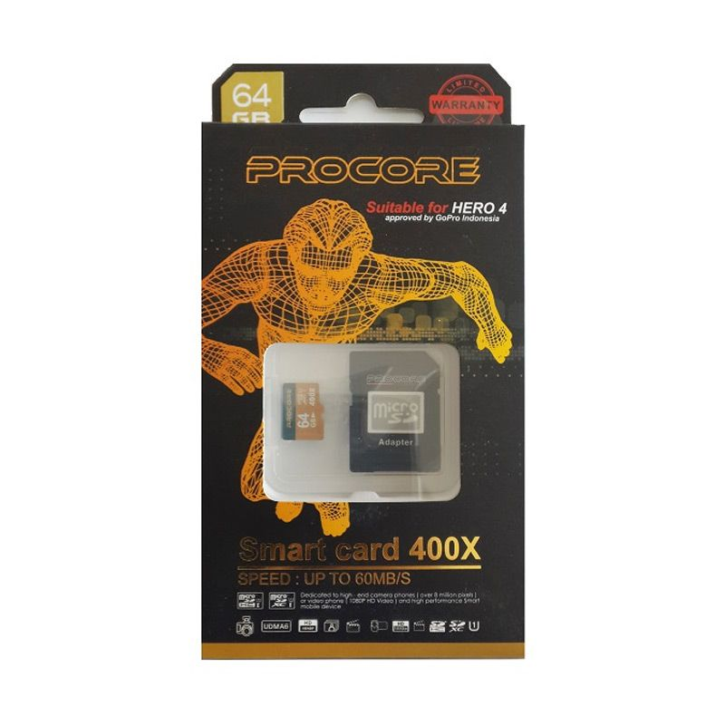 Procore MicroSD 400x Memory Card [60 Mbps/64 GB]